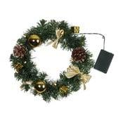 Coroniță de Crăciun luminoasă cu LED Best Season Decorage Gold Ribbons