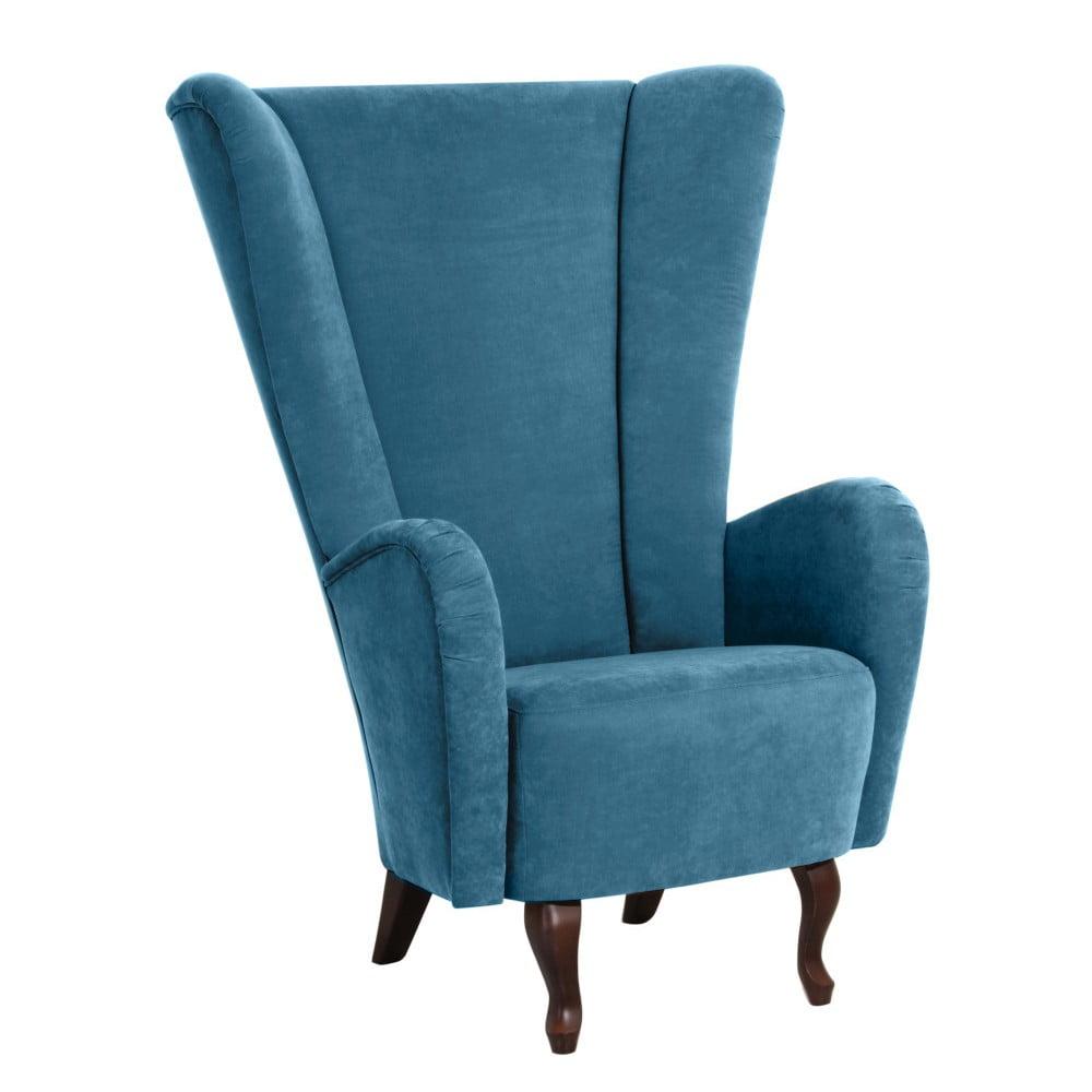 fotoliu max winzer aurora velor albastru petrol bonami. Black Bedroom Furniture Sets. Home Design Ideas