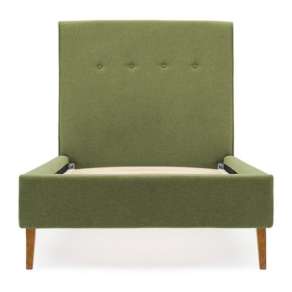 Dětská tmavě zelená postel PumPim Noa, 200x90cm