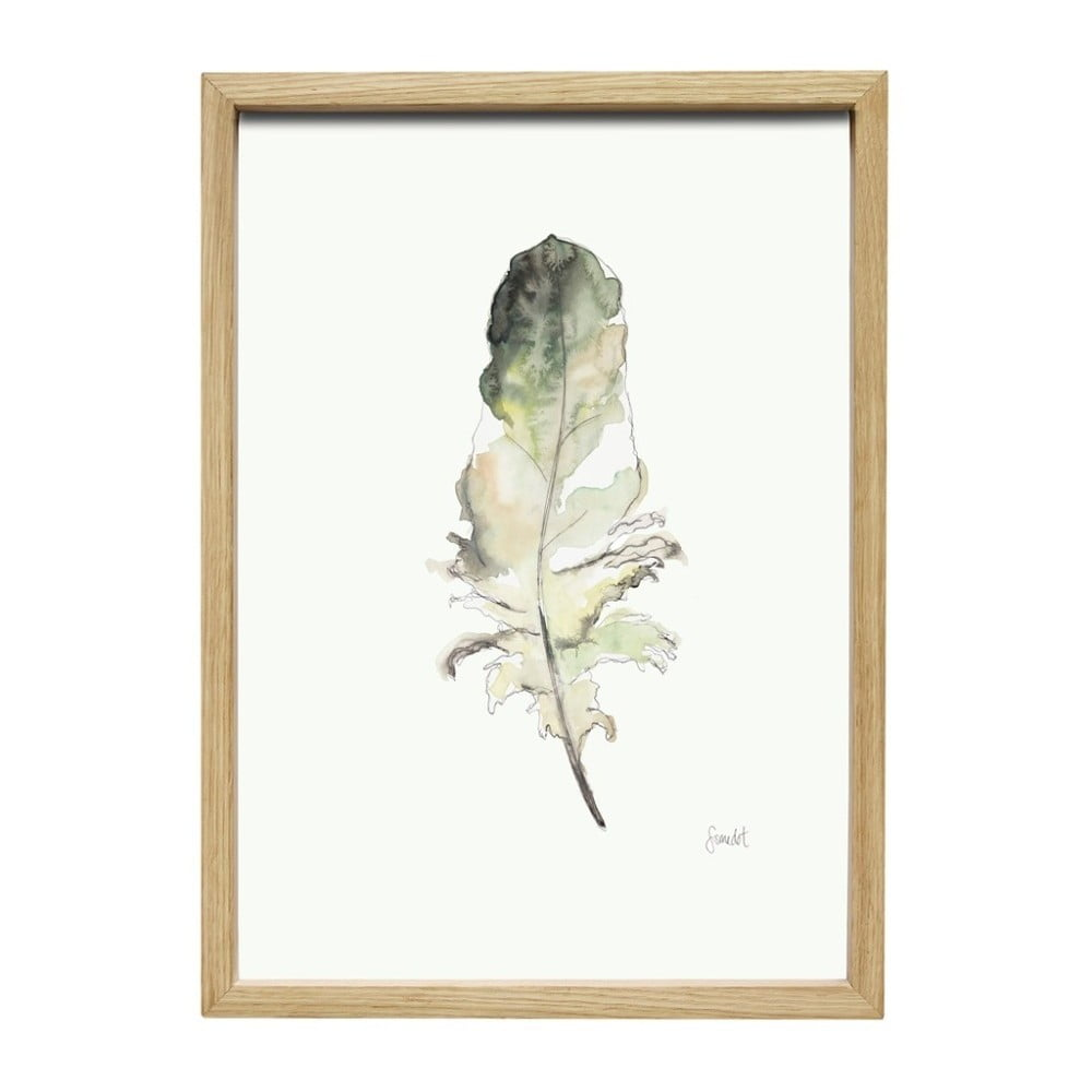 Obraz s rámem Hübsch Joar, 35x50cm
