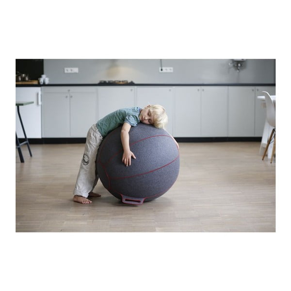 Hnědý plstěný sedací míč VLUV, 75 cm