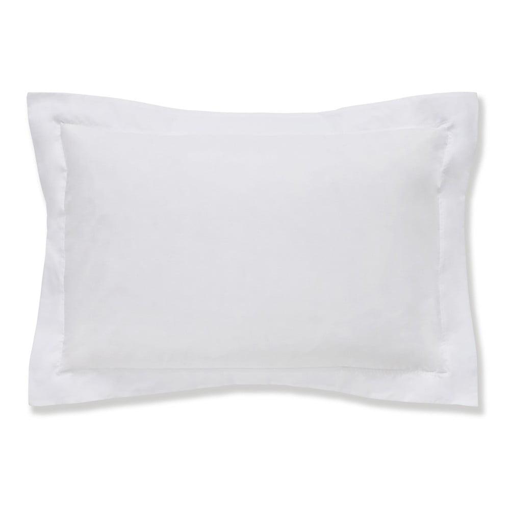 Bílý povlak na polštář z egyptské bavlny Bianca Oxford, 50 x 75 cm