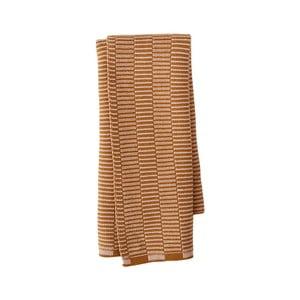Karamelově hnědá kuchyňská utěrka z organické bavlny OYOY Stringa