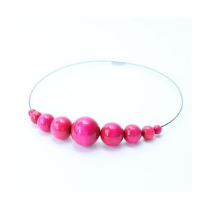 Růžový dřevěný náhrdelník Ko-ra-le Retro