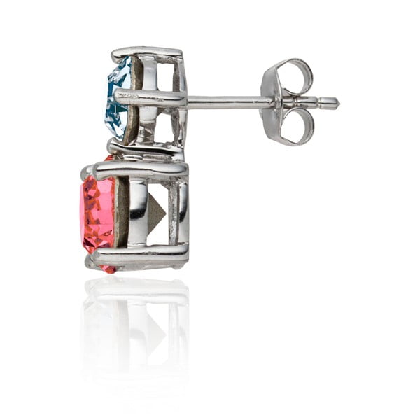 Sada náušnic a náhrdelníku Round Cut Pink