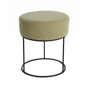 Olivově zelená stolička s kovovou konstrukcí Simla Round, ⌀35cm