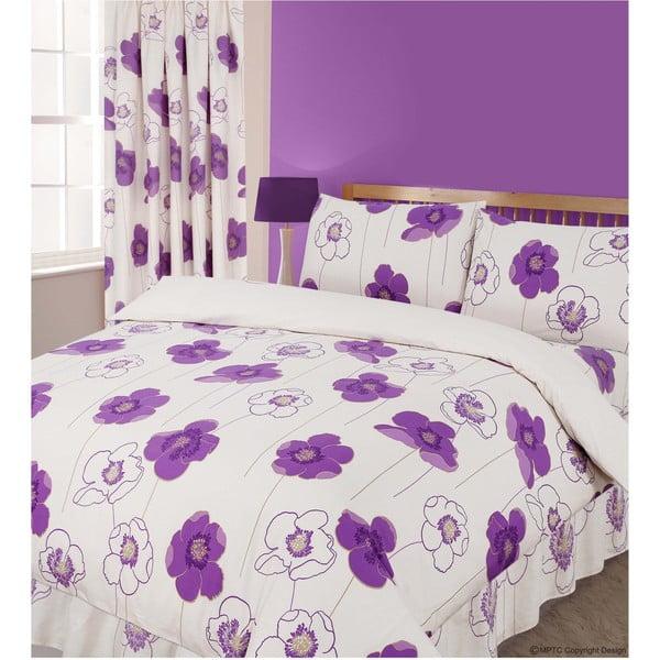 Povlečení Poppy Purple, 200x200 cm
