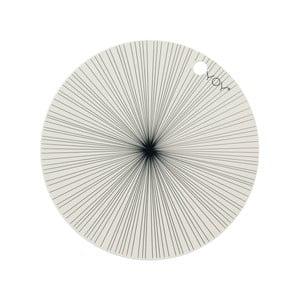 Sada 2 vzorovaných silikonových prostírání OYOY Ray, ⌀39 cm