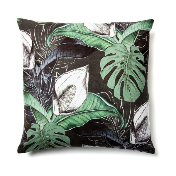 Czarno-zielona poszewka na poduszkę La Forma Anele, 45x45 cm