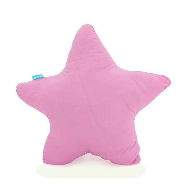 Růžový bavlněný polštářek Happy Friday Basic Estrella Pink, 50x50cm