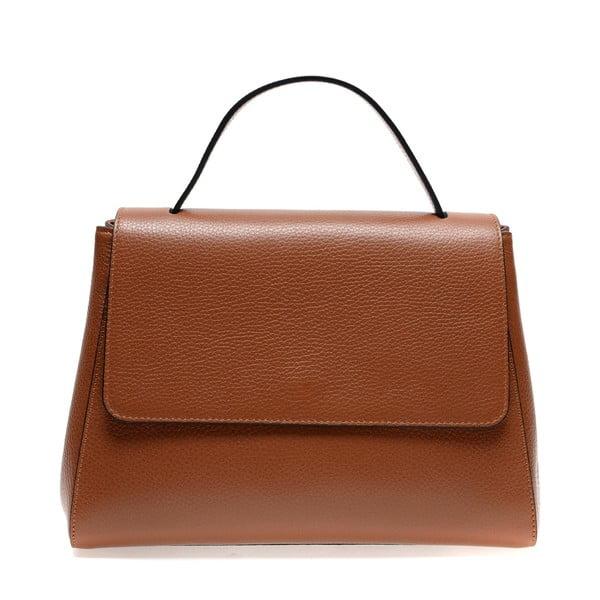 Hnedá kožená taška do ruky Renata Corsi