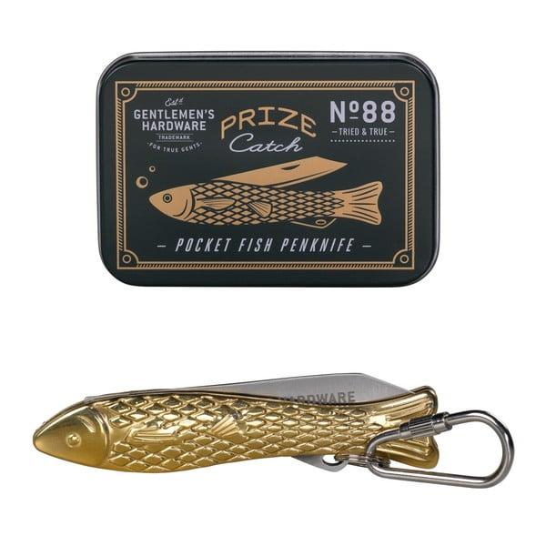 Zlatý nožík ve tvaru rybičky Gentlemen's Hardware