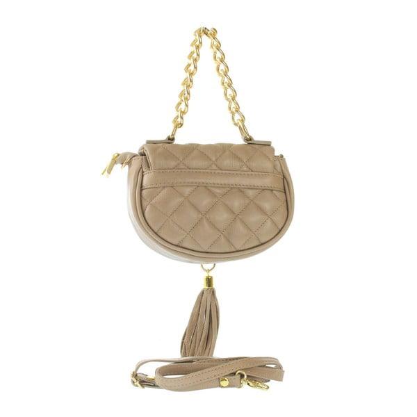 Taupe kožená kabelka Serena