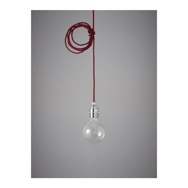 Závěsný kabel Chrome Burgundy Red