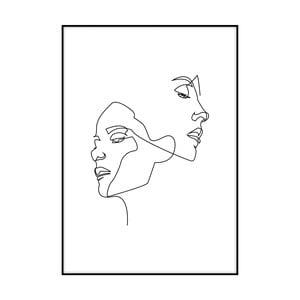 Plakát Imagioo Two Faces, 40x30cm