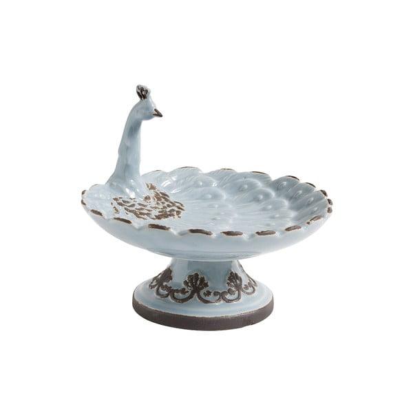 Modrý keramický podnos Nordal Bird