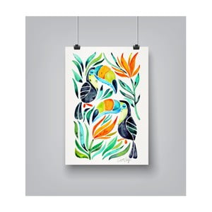 Poster Americanflat Toucans, 30 x 42 cm