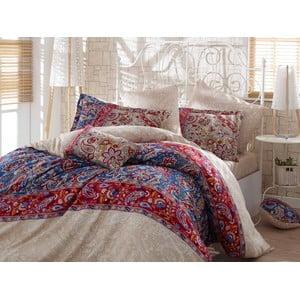 Lenjerie de pat cu cearșaf Caterina Red, 200 x 220 cm