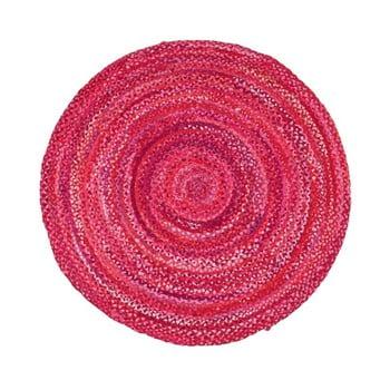 Covor din bumbac Eco Rugs, Ø120cm, roz de la Eko Halı