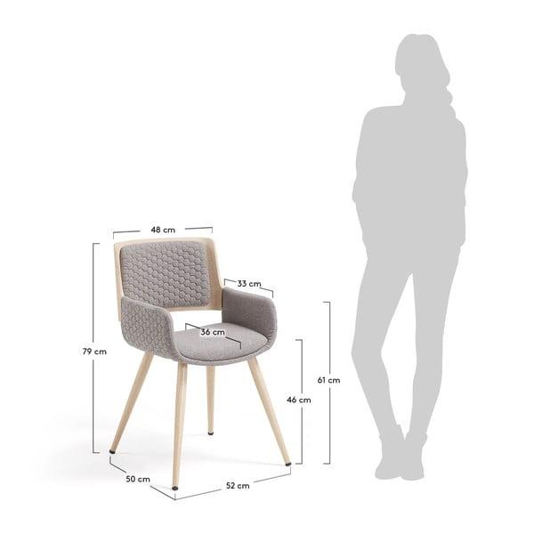 Scaun cu picioare din lemn și cotiere La Forma Andre
