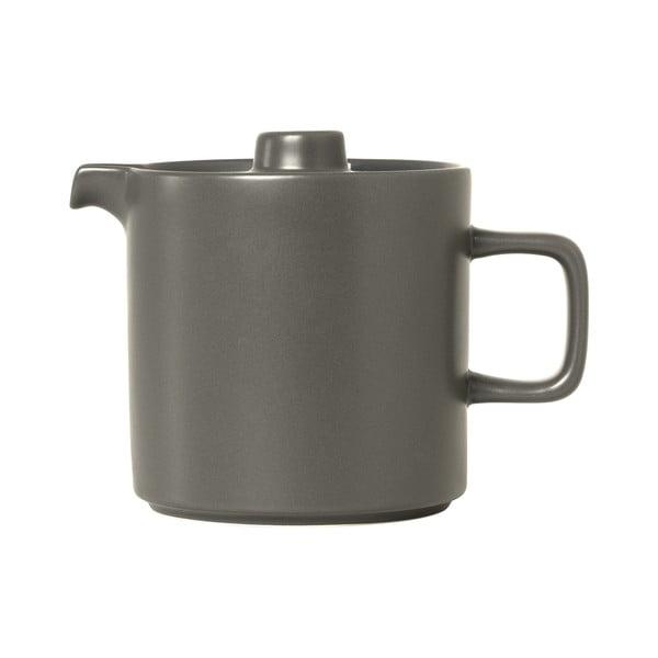 Sivá keramická čajová kanvica Blomus Pilar,1l