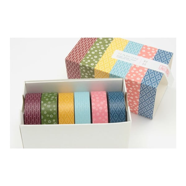 Sada 6 washi pásek Japonais Tradition