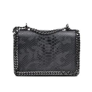 Černá kožená kabelka Mangotti Sadia
