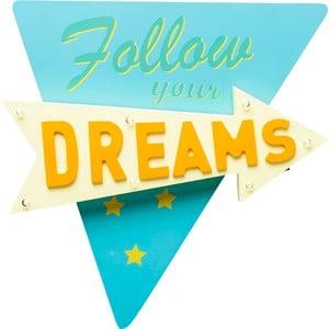 Modro-žluté nástěnné svítidlo Kare Design Follow your Dreams