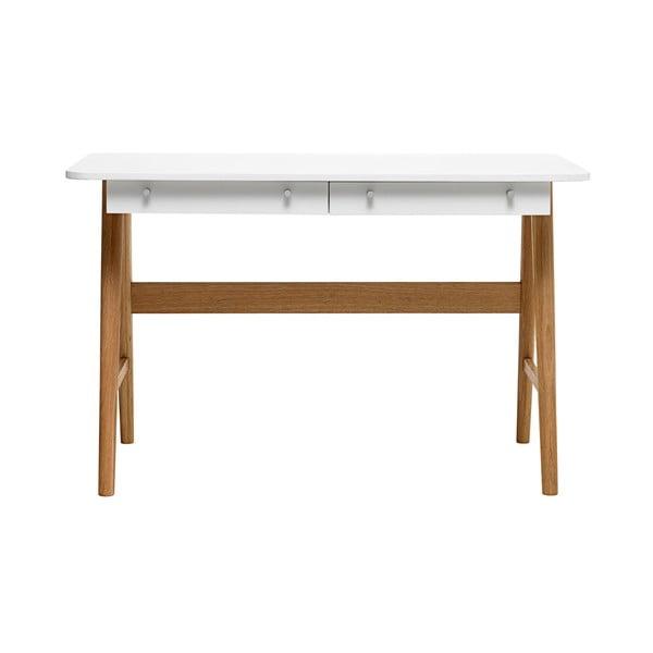 Turin fehér tölgyfa íróasztal - Unique Furniture