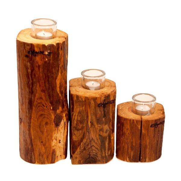 Set 3 svícnů Lumberjack