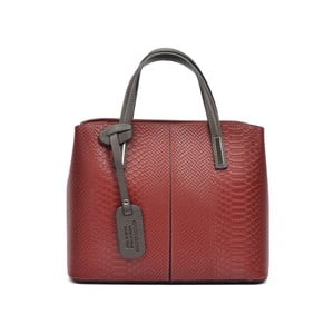 Červená kožená kabelka Roberta M Muriella