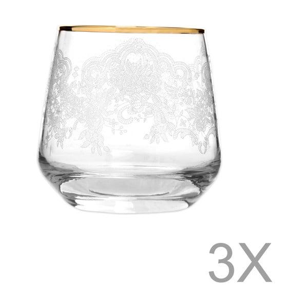 Sada 3 sklenic Mezzo Lily Puro, 345 ml
