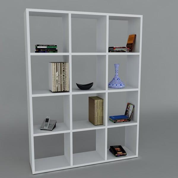 Knihovna Ultimate White, 22x93,6x124,2 cm