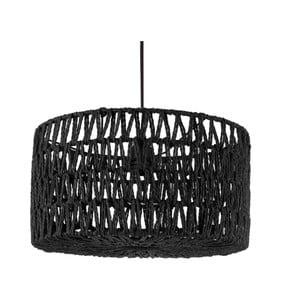 Černé závěsné svítidlo Leitmotiv Paper Rope, ⌀39cm