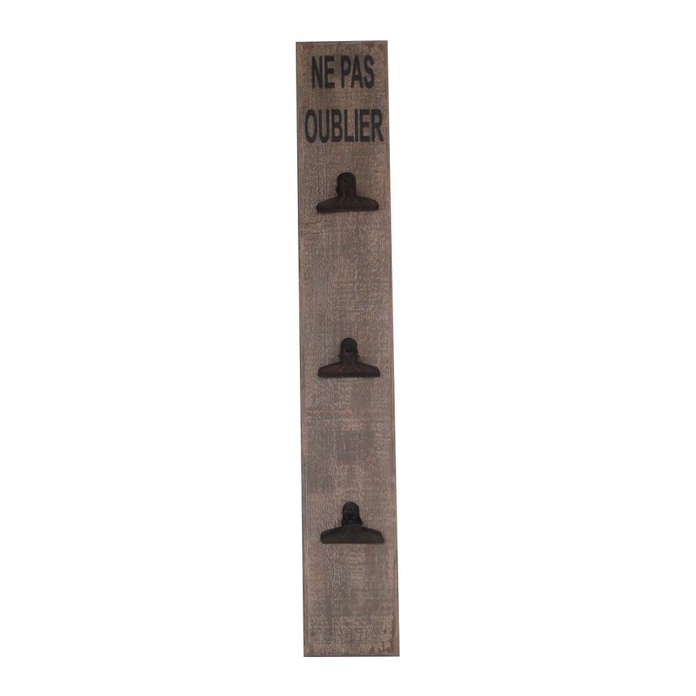 Dřevěná nástěnka s klipsnami AnticLine, výška74cm