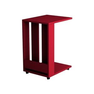 Červený příruční stolek Homitis Alfa