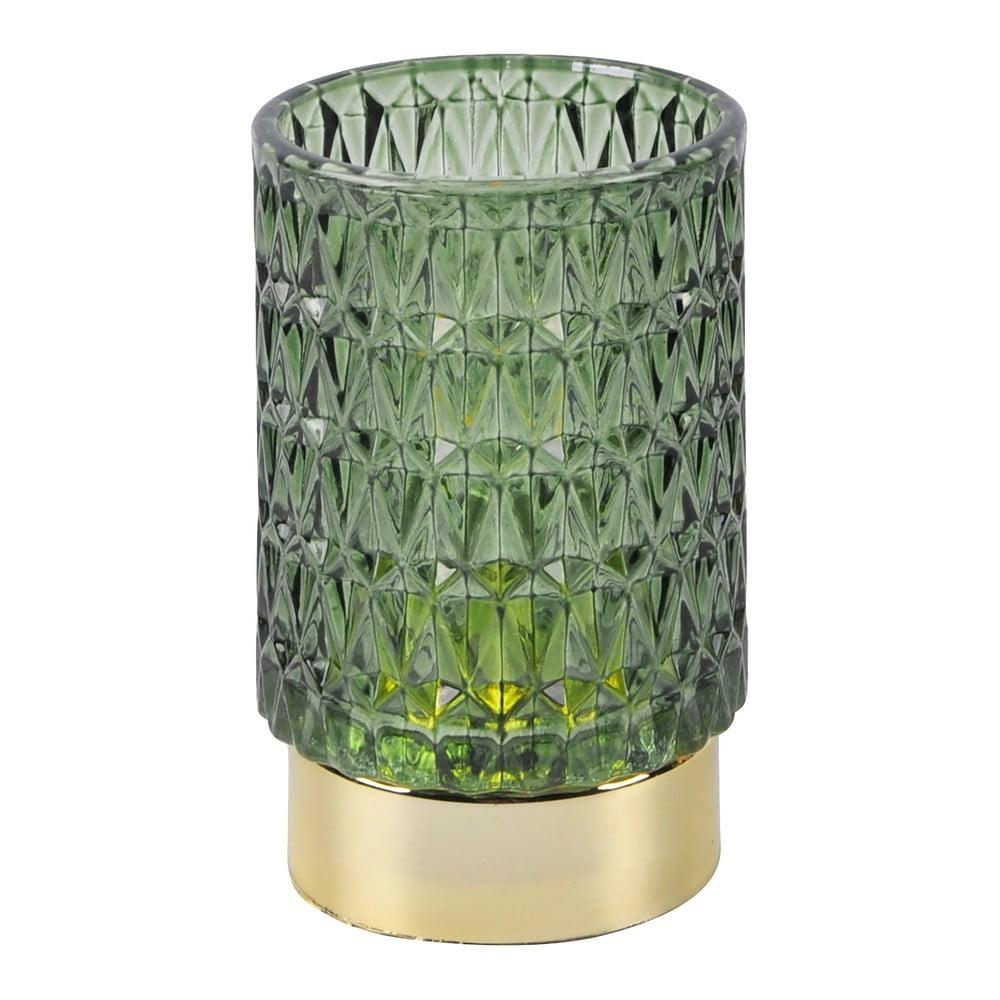 Zelená LED skleněná stolní lampa PT LIVING Diamond