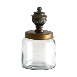 Dóza ze železa a skla Last Deco, ⌀ 16 cm
