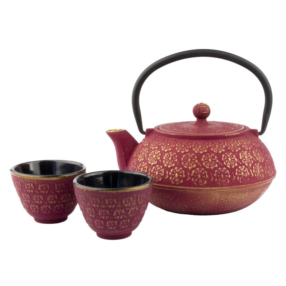 Dárkový set konvice se sítkem na sypaný čaj a 2 šálků Bredemeijer Shanghai