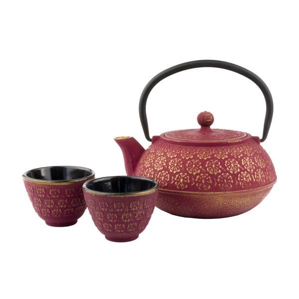 Set cadou ceainic cu infuzor și cești din fontă Bredemeijer Shanghai