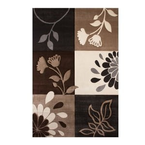 Koberec Beige Floral, 120x170 cm