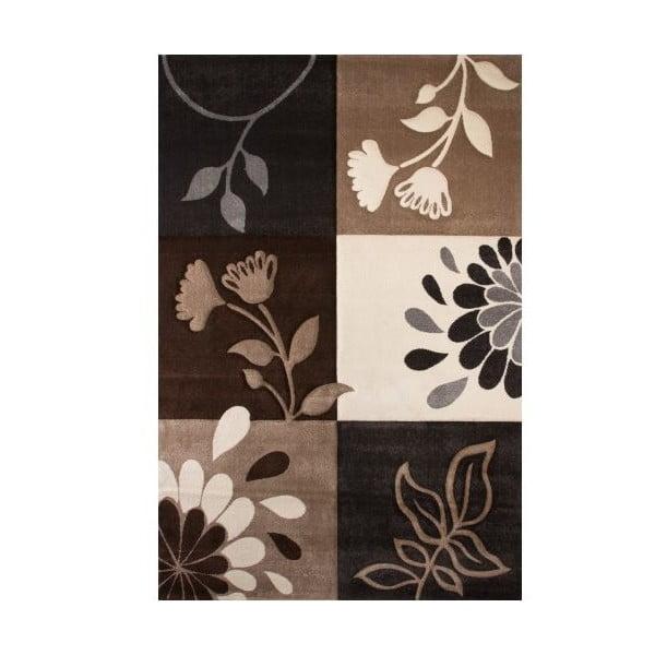 Koberec Beige Floral, 160x230 cm