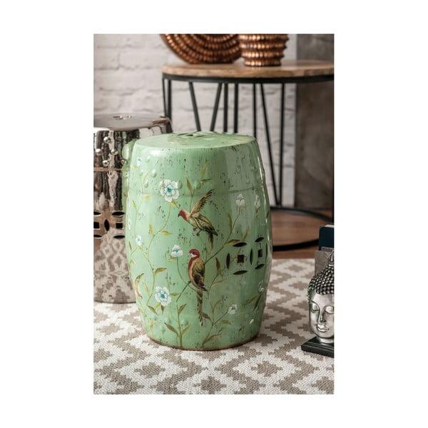 Keramická stolička Complements Stool, zelená