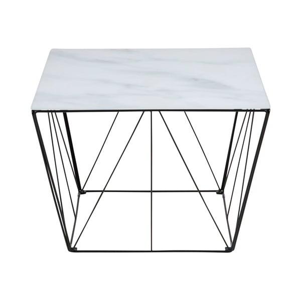 Konferenčný stolík so sklenenou doskou Actona Turbo, 60 x 60 cm