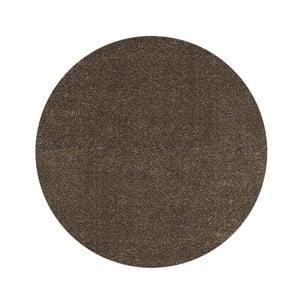 Koberec Super Shaggy 160x160 cm s 5 cm dlouhým vlasem, hnědý