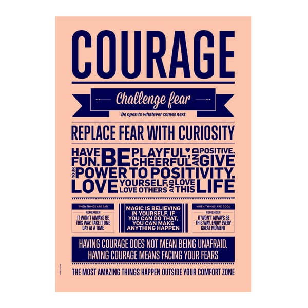 Autorský plakát Courage, 70x100 cm