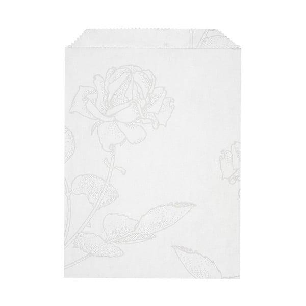 Sada 10 papírových sáčků Glassine Floral