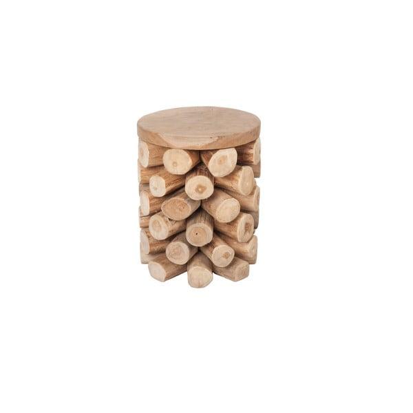 Stolek z týkového dřeva Dijk Natural Collections Ove
