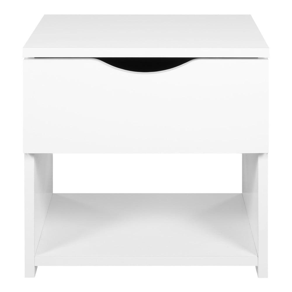 Bílý noční stolek Artemob Letty