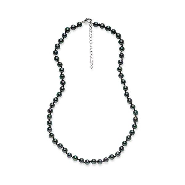 Černý perlový náhrdelník Pearls Of London Mystic, délka 42cm